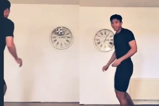 Đoàn Văn Hậu sút bóng vỡ đồng hồ khi tập ở nhà mùa Covid-19