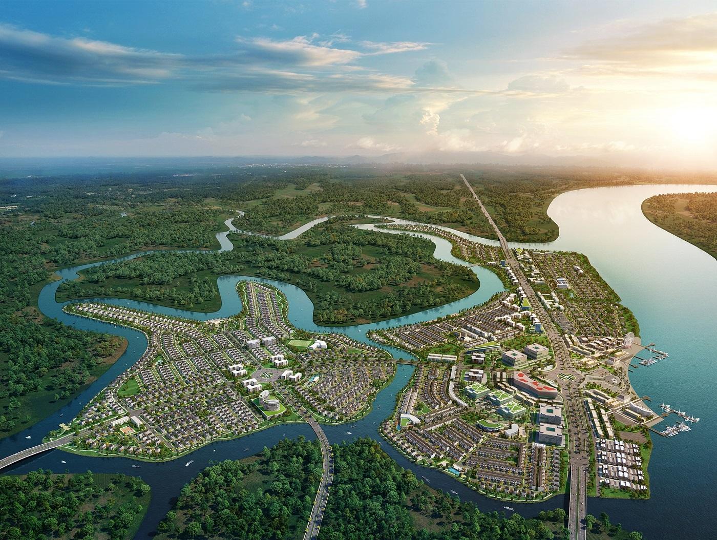 Aqua City ứng dụng năng lượng mặt trời kiến tạo đô thị sinh thái bền vững