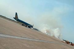 Lập tổ điều tra sự cố máy bay nổ lốp, bốc khói ở Tân Sơn Nhất