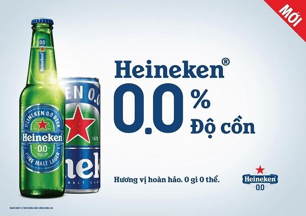 Ra mắt bia không cồn Heineken 0.0