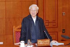 Tổng bí thư, Chủ tịch nước chủ trì họp Tiểu ban nhân sự Đại hội 13