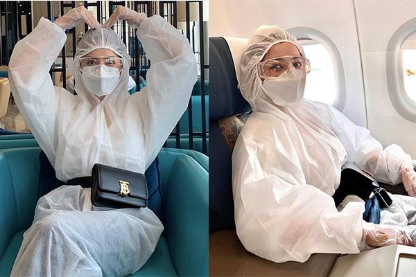 Chi Pu đích thân tặng 5.000 bộ đồ bảo hộ tại Hà Nội và TP.HCM