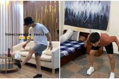 """Minh Vương khiến Công Phượng """"lác mắt"""" với trò tâng giấy vệ sinh"""