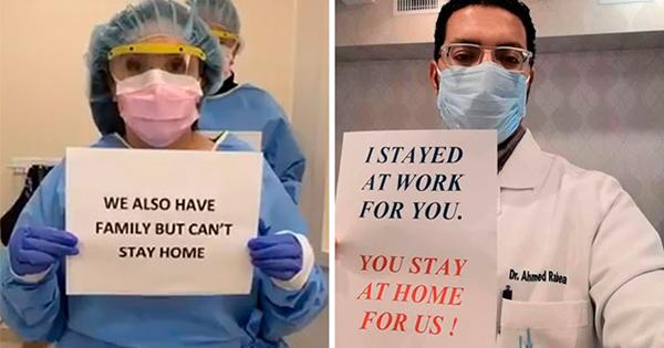 Bác sĩ khắp thế giới lan toả thông điệp 'xin bạn ở nhà vì chúng tôi'
