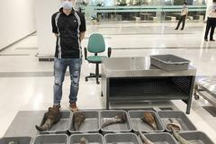 Bay từ Hàn Quốc về Cần Thơ, liều lĩnh kí gửi gần 30kg sừng tê giác