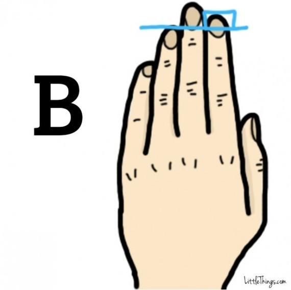 Chiều dài ngón tay tiết lộ điều thú vị trong tính cách bạn