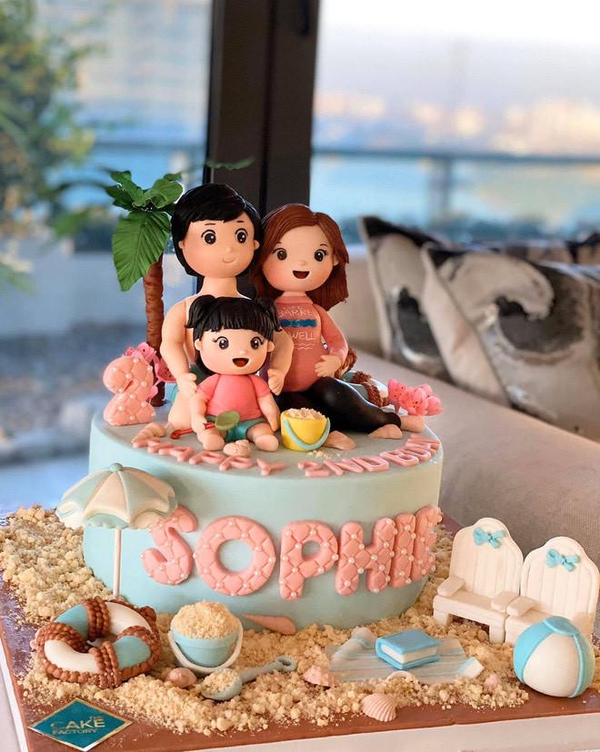 Tổ chức sinh nhật cho con, Đặng Thu Thảo ngầm khoe đang mang bầu lần 2