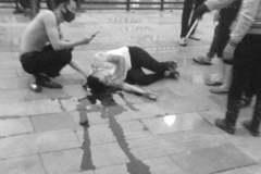 Nhóm côn đồ đâm gục 1 người trên phố đi bộ ở Hải Phòng