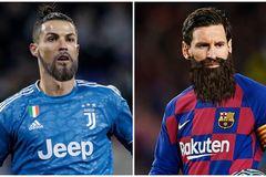 Phì cười hình ảnh Ronaldo, Messi sau thời gian cách ly