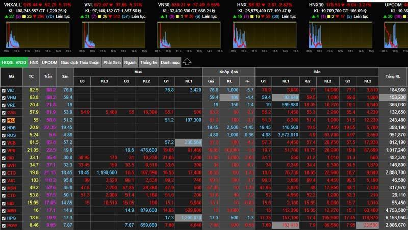 Chứng khoán giảm sâu, VN-Index xuống dưới 700 điểm
