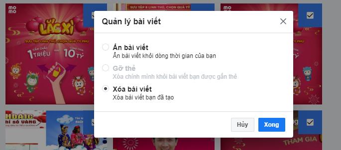 Cách ẩn, xóa, gỡ thẻ hàng loạt bài viết cùng lúc trên Facebook