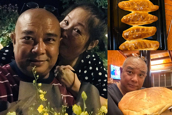 NSND Hồng Vân khoe tài lẻ làm bánh mì xuất sắc của chồng Lê Tuấn Anh