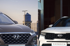 Hyundai Santa Fe đối đầu Kia Sorento 2021