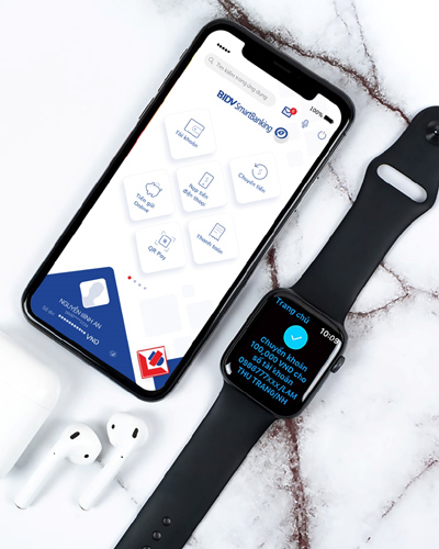 Trải nghiệm tiện ích BIDV SmartBanking trên Apple Watch