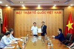 Nhà báo Trương Thành Trung làm Phó tổng biên tập Tạp chí Mặt trận