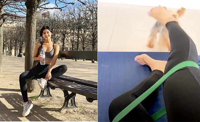 Quỳnh Nga, Phương Trinh Jolie gợi cảm ngay cả khi tập yoga