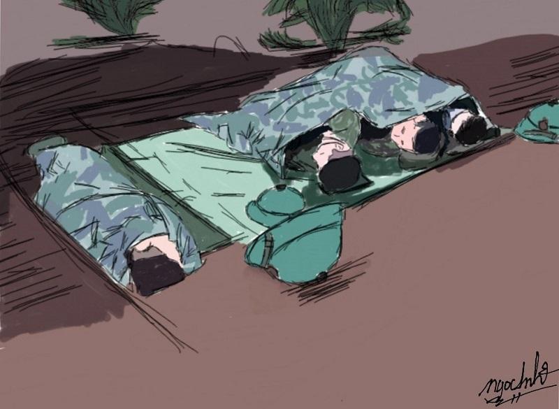 'Những anh hùng thầm lặng' qua tranh vẽ của nữ sinh Đà Nẵng