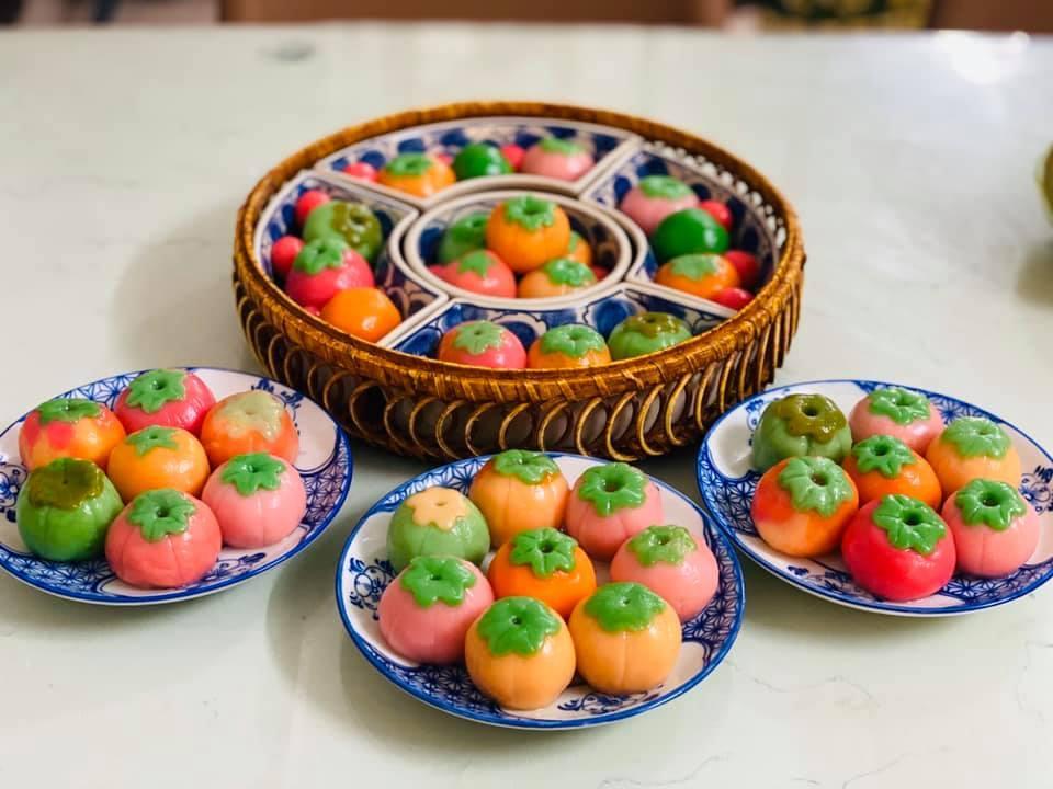 Tết Hàn thực, chị em khoe mâm bánh trôi, bánh chay đẹp tới từng chi tiết