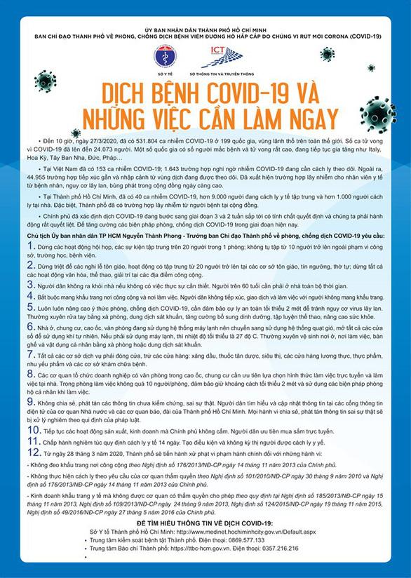 12 việc cần làm ngay trong 14 'ngày vàng' chống dịch ở TP.HCM