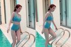 Ngọc Trinh khoe thân hình nuột nà bên bể bơi