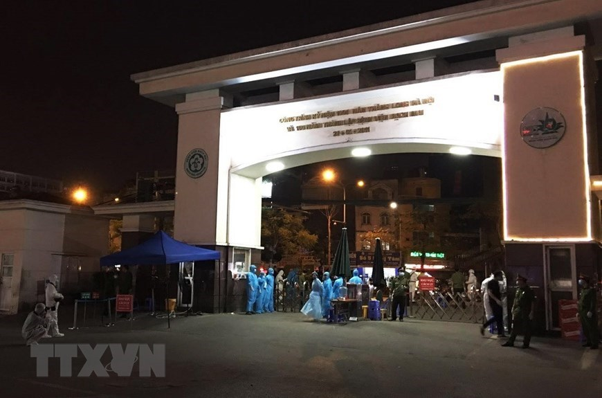 Bach Mai hospital disinfected after COVID-19 outbreak