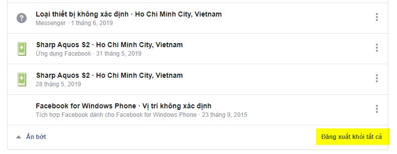 Cách đăng xuất tài khoản Facebook và Messenger khỏi tất cả các thiết bị