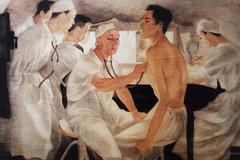 Bức tranh đầy xúc cảm ngợi ca 'các chiến binh áo trắng'