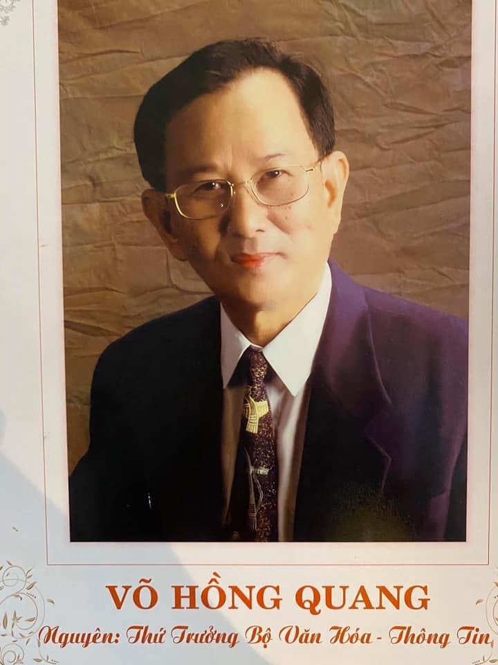 Nguyên Thứ trưởng Bộ VH & TT Võ Hồng Quang qua đời