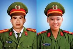 Thăng cấp bậc hàm cho 2 chiến sĩ công an hy sinh khi truy bắt nhóm đua xe
