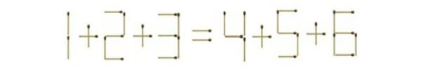 Thử giải bài toán 1+2+3=4+5+6