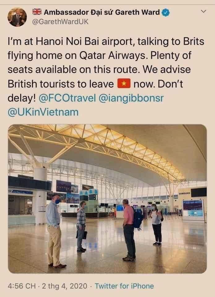 Đại sứ quán Anh bác tin đồn cảnh báo công dân rời Việt Nam