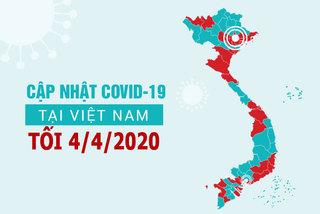 Cập nhật số ca nhiễm Covid-19 tại Việt Nam 04/04/2020