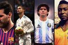 Xem Ronaldo, Messi đọ tài Pele và Maradona