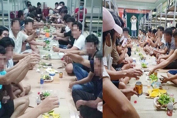 Mua rượu qua mạng, 30 người nhậu tưng bừng trong khu cách ly