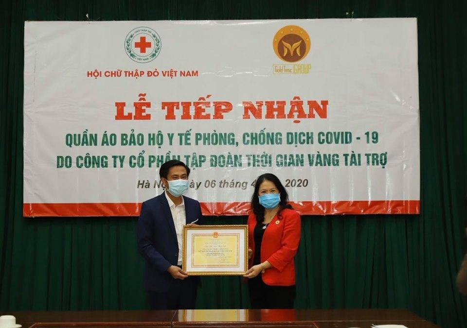 Hội Chữ thập đỏ tiếp nhận tài trợ hỗ trợ phòng, chống dịch Covid-19