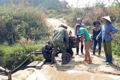 Kon Tum's river depleted as hydropower plants store water