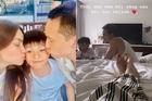 Hồ Ngọc Hà nằm ngắm Kim Lý dạy Subeo học bài
