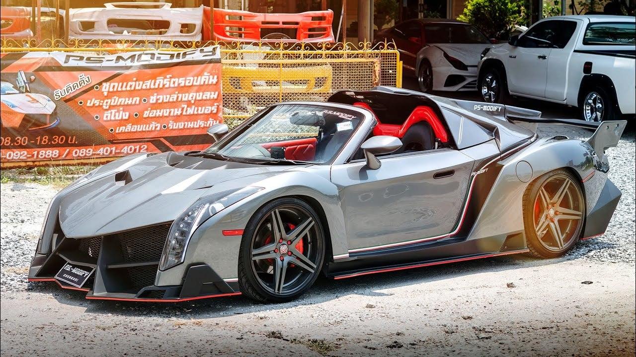 Xưởng độ biến Toyota bình dân thành siêu xe Lamborghini, Ferrari như thật