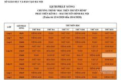 Lịch phát sóng chương trình học trên truyền hình cho học sinh Hà Nội từ 13 đến 18/4
