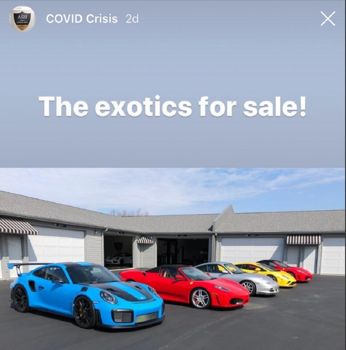 Đại gia bán 7 siêu xe để hỗ trợ người thất nghiệp do Covid-19