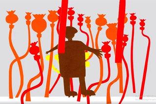 Autistic children display paintings online