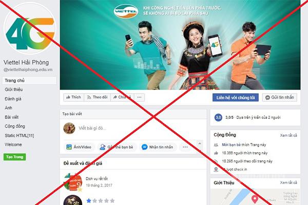 Viettel và Facebook phối hợp xóa 186 fanpage giả mạo