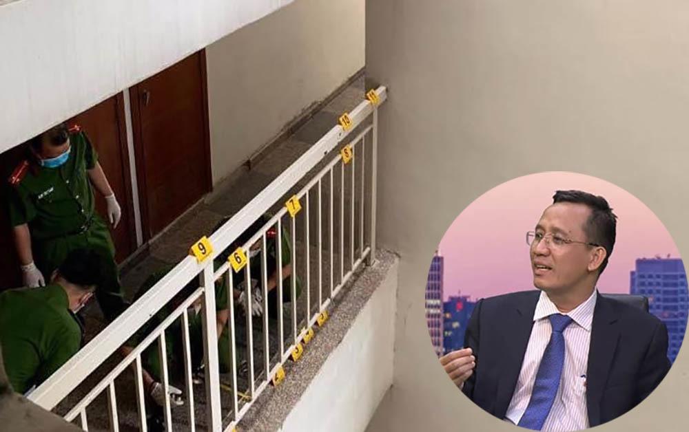 Khám nghiệm lần 2 hiện trường vụ tiến sĩ Bùi Quang Tín rơi lầu tử vong