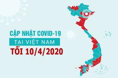 Cập nhật tình hình COVID-19 tại Việt Nam 10/4/2020