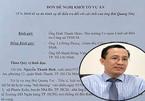 Vợ tiến sĩ Bùi Quang Tín nộp đơn đề nghị khởi tố vụ án