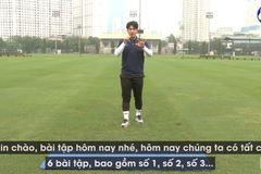 HLV Park Sung Gyun hướng dẫn cầu thủ tập thể lực tại nhà