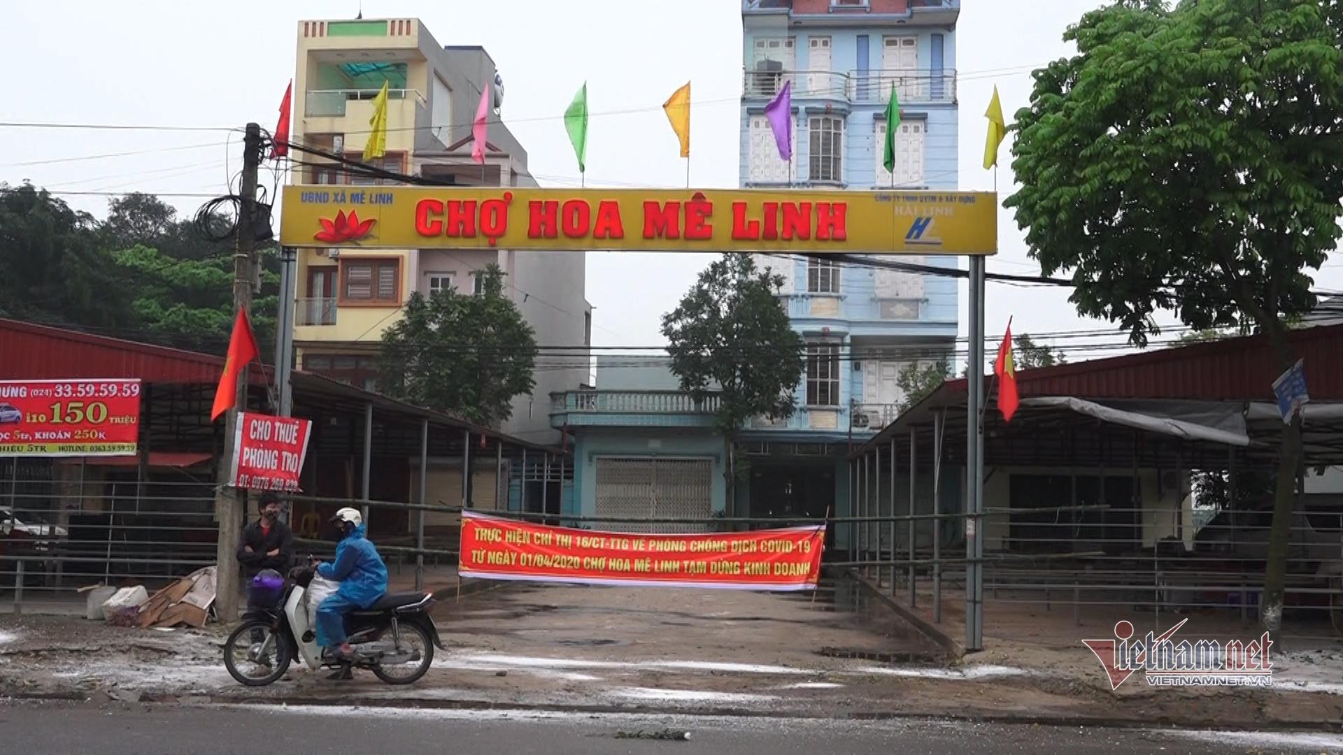 Dịch Covid-19: Hà Nội rà soát chợ hoa Mê Linh