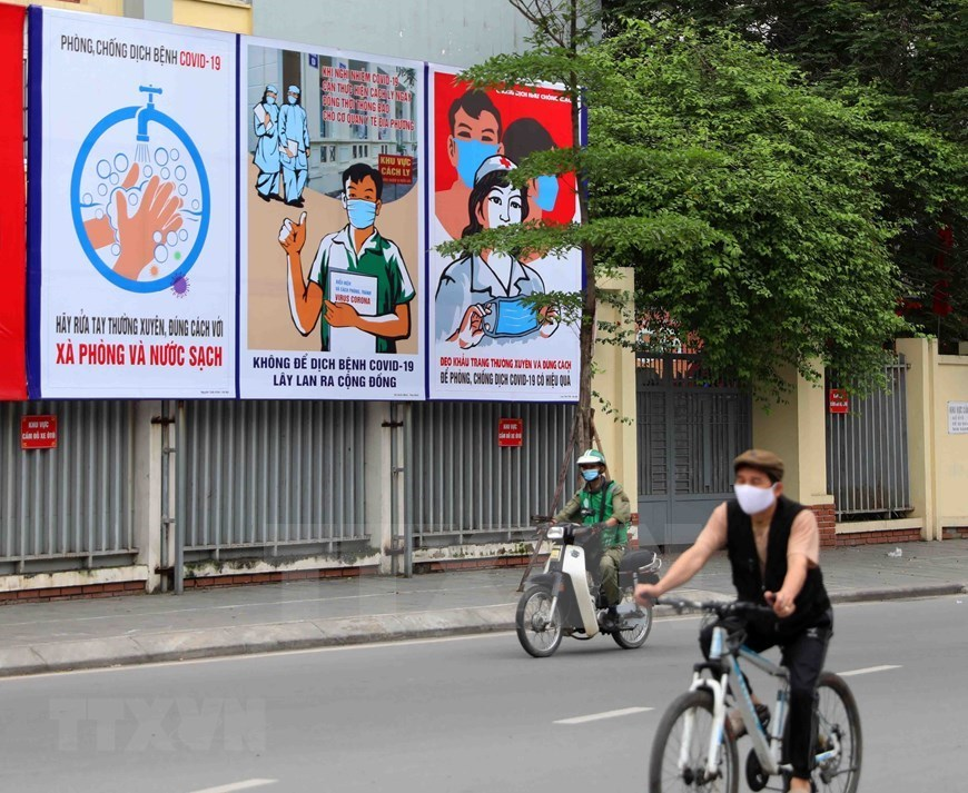 Posters raise public awareness of COVID-19 in Vietnam