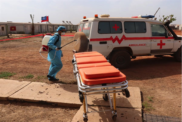 South Sudan,Vietnamese peacekeepers,fight against the pandemic