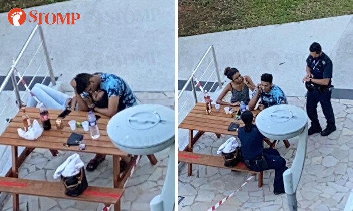 Cặp đôi hôn nhau ở nơi công cộng bất chấp quy định cách ly